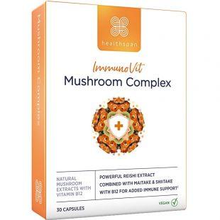 Healthspan Immunovit Mushroom Complex - 30 Capsules