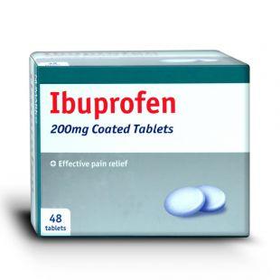 Ibuprofen - 48 x 200mg Tablets (Brand May Vary)