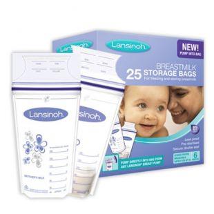Lansinoh Breast Milk Storage Bags - 25 Piece Pack
