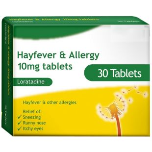 Loratadine (10mg) - Hay Fever & Allergy Relief - 30 Tablets