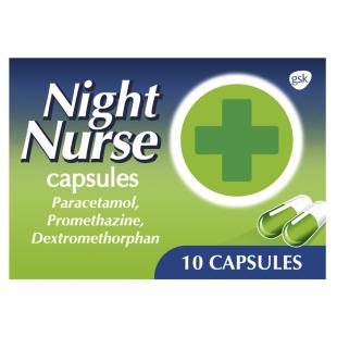 Night Nurse Cold & Flu Capsules – 10 Capsules