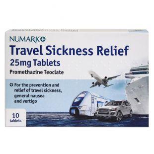 Numark Travel Sickness Relief 25mg Promethazine 10 Tablets
