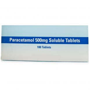 Paracetamol Soluble Tablets - 100 x 500mg (Brand May Vary)