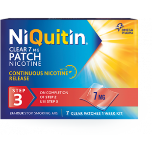 NiQuitin Clear 7mg 24 Hour (Step 3) – 7 Patches