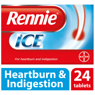 Rennie Ice Indigestion & Heartburn Relief – 24 Tablets