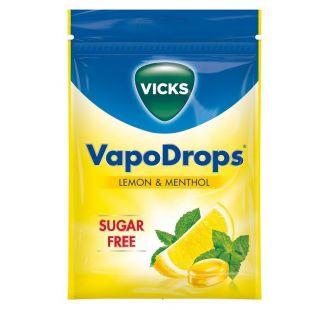 Vicks Vapodrops Sugar-Free Lemon Menthol – 72g