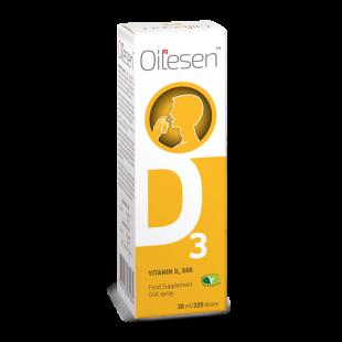 Oilesen Vitamin D3 500IU (12.5mcg) Spray - 30ml