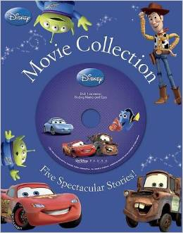 Disney Boys Movies Read Along with Audio and 5 Hard Back Books