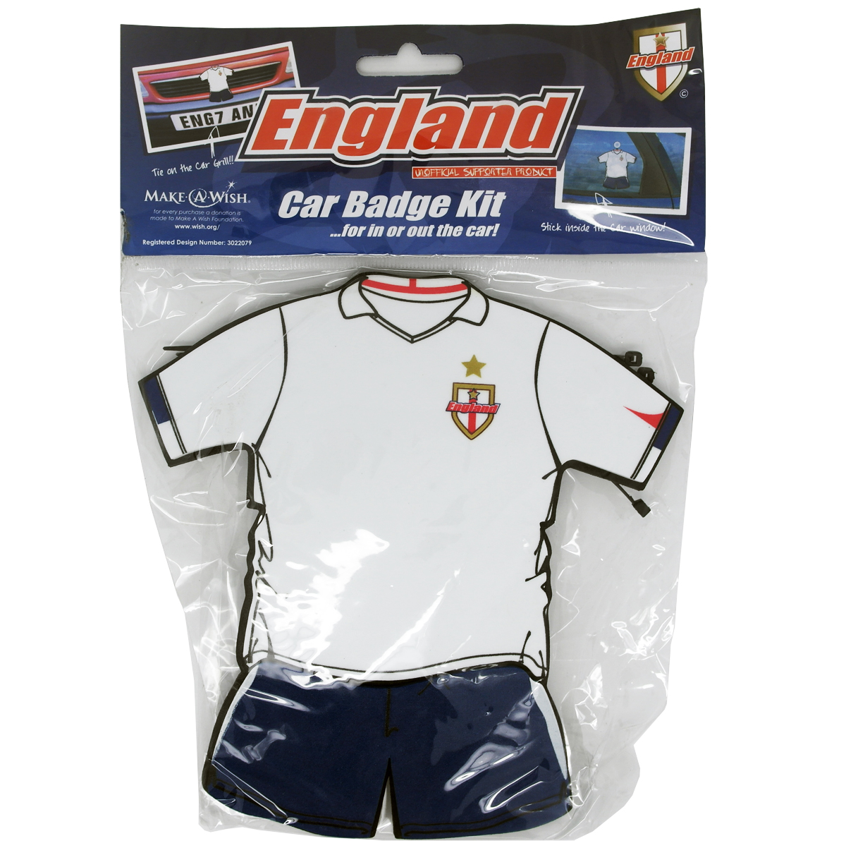 England Car Window/Grill Badge Featuring The National Team's Shirt