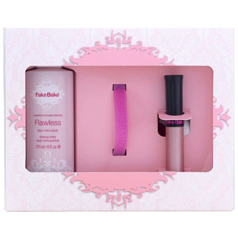 Fake Bake Breast Cancer Awareness Gift Set Lip Gloss Wristband...