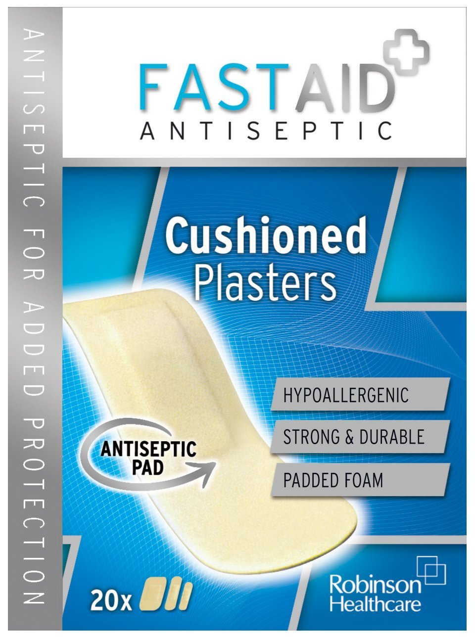 Fast Aid Birmingham Solihull: Fast Aid Antibacterial Cushioned Plasters Assorted Sizes