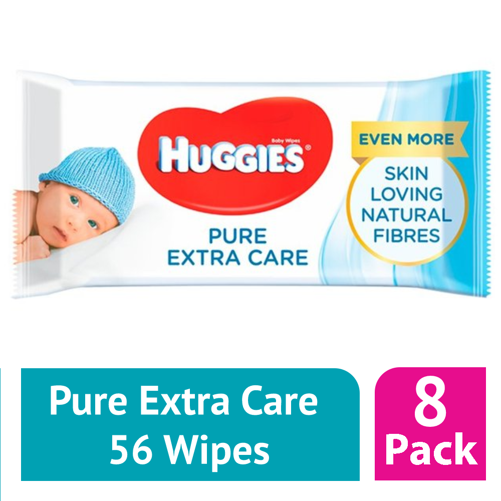 Huggies Pure Extra Care Baby Wipes Case Of 8