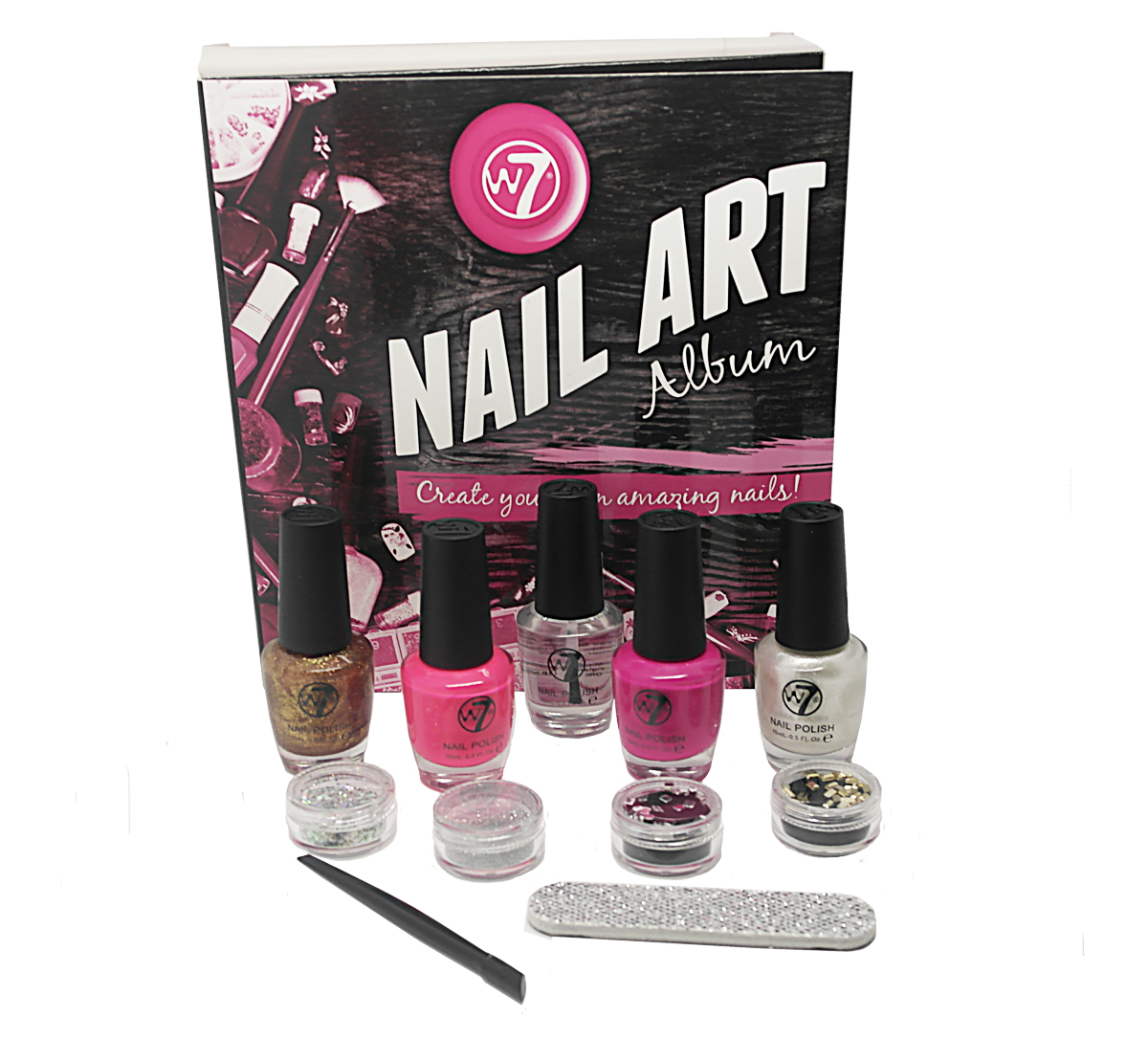 W7 Nail Art Album 20 Piece Nail Art Styling Collection