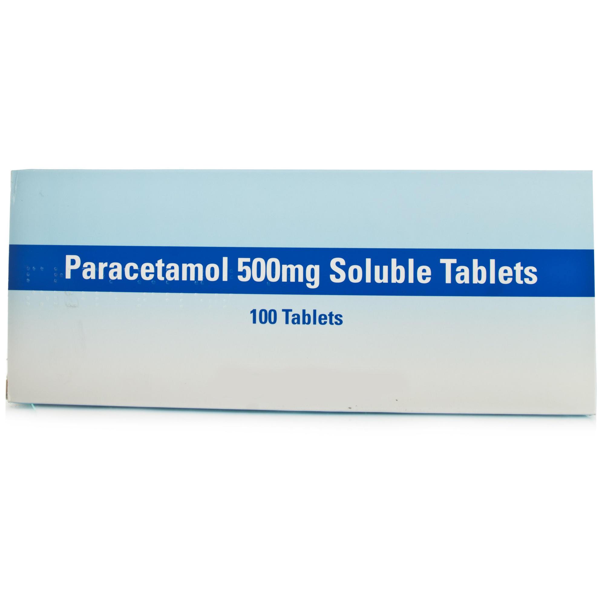 Paracetamol Soluble Tablets 100 X 500mg Chemist 4 U