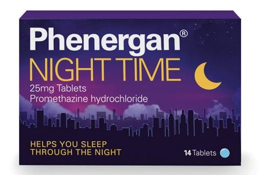 Phenergan Night Time 25mg Promethazine Sleep Aid 14