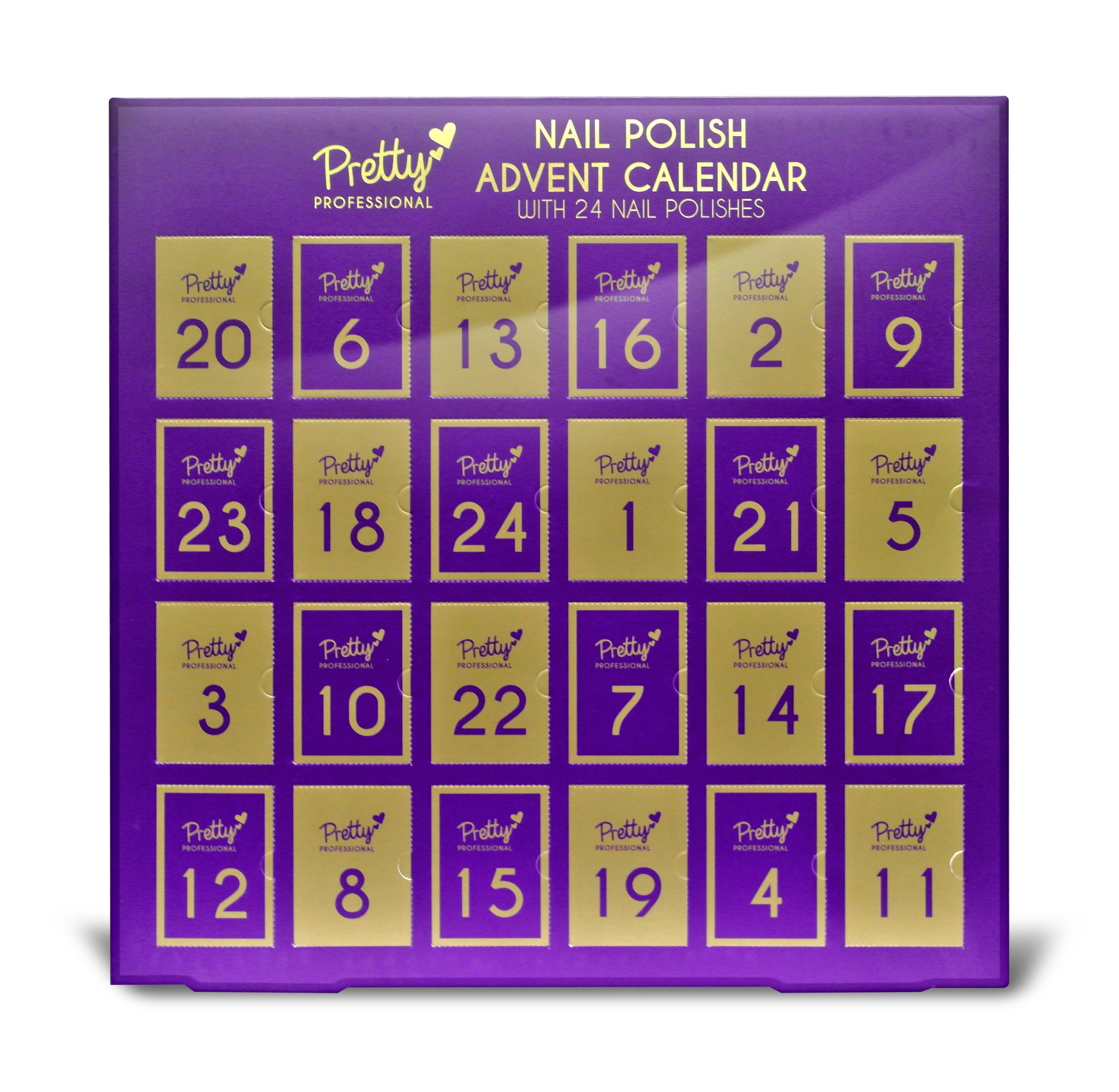 Pretty Professional 24 Piece Nail Polish Advent Calendar