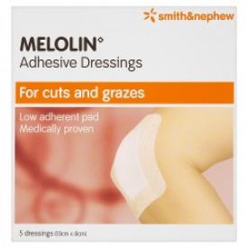 Melolin Adhesive Dressings 10cmx8cm 5 Dressings