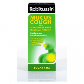 Robitussin Mucus Cough Congestion Relief 20mg 6mg/ml - 100ml