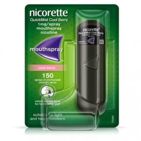 Nicorette QuickMist 1mg Mouthspray Cool Berry - 150 Sprays