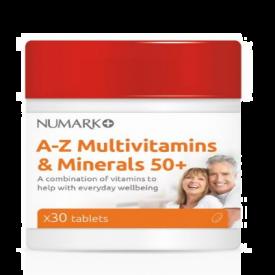 Numark A-Z Multivitamins & Minerals 50+ - 30 Tablets