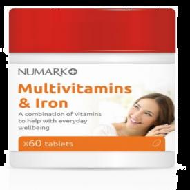 Numark Multivitamins & Iron - 60 Tablets