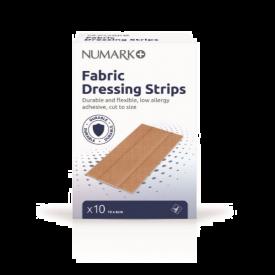 Numark Fabric Dressing Strips 6cm x 1m 10 Pack