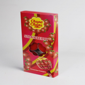 Chupa Chups Strawberry Scented Tealights 10 Pack