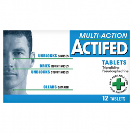 Actifed Multi-Action – 12 Tablets
