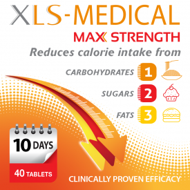 XLS Medical Maximum Strength Weight Loss Tablets - 40 Tablets