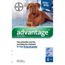 Advantage 400 Spot On Flea Control 400 for Dogs - 4 Pipettes