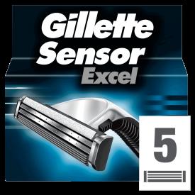 Gillette Sensor Excel Refill Razor Blade Cartridges - 5 Blades