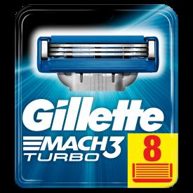 Gillette Mach3 Turbo Blades – 8 Pack