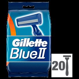 Gillette Blue II Disposable Razors – 20 Pack