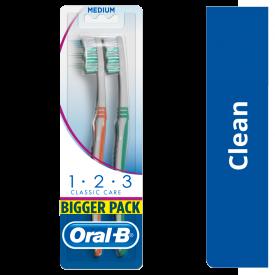 Oral-B 1-2-3 Toothbrush Medium - Twin Pack