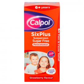 Calpol SixPlus Sugar Free Suspension - 80ml