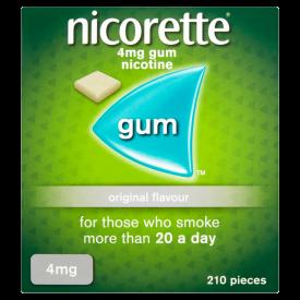 Nicorette Original Flavour Gum 4mg – 210 Pieces
