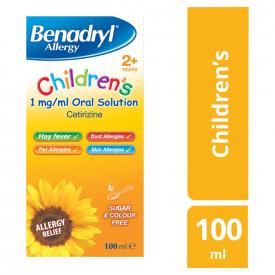 Benadryl Allergy Cetirizine Children's Solution 2+ – 100ml