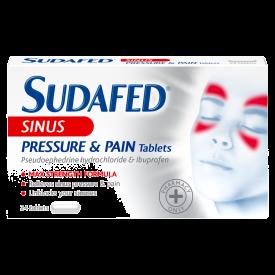 Sudafed Sinus Pressure & Pain Relief – 24 Tablets