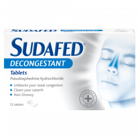 Sudafed Decongestant Non Drowsy – 12 Tablets