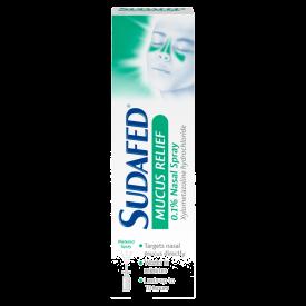Sudafed Mucus Relief 0.1% Nasal Spray – 15ml
