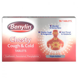 Benylin Chesty Cough & Cold Tablets – 16 Tablets