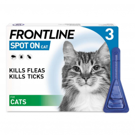 FRONTLINE Spot On Flea Treatment for Cats - 3 Pipettes