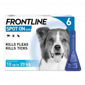 FRONTLINE Spot On Flea Treatment Medium Dog - 6 Pipettes