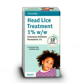 Numark Head Lice Treatment & Toothed Comb - 59ml