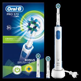 Oral-B Pro 570 Cross Action Electric Toothbrush + Bonus Brush Head