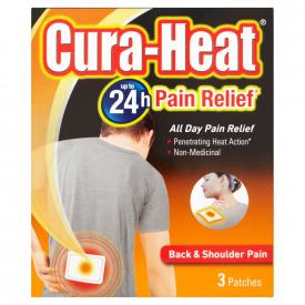 Cura-Heat Back & Shoulder Pain - 3 Heat Packs