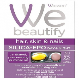 Wassen We Beautify Silica EPO Hair Skin and Nails 30 Tabs + 30 Caps