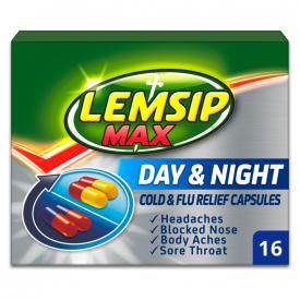 Lemsip Max Cold & Flu Day & Night - 16 Capsules