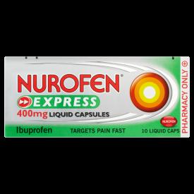 Nurofen Express Max Strength 400mg Liquid Capsules - 10 Pack