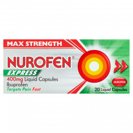 Nurofen Express Max Strength 400mg x 20 Liquid Capsules